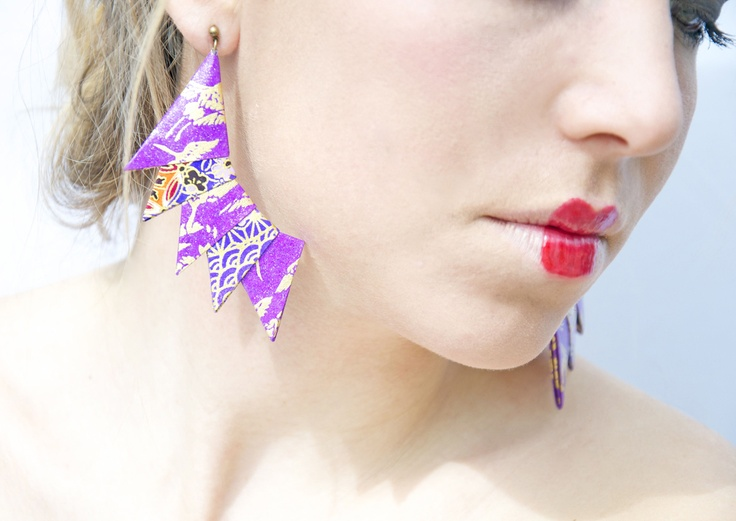 Orecchini Cresta | origami paper earrings by Minikami
