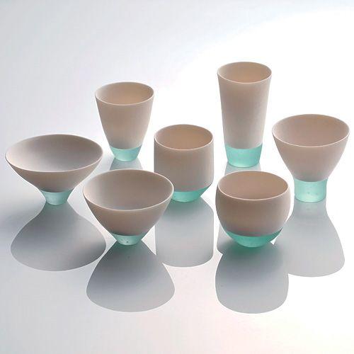 Glass-porcelain fusion by Misa Tanaka