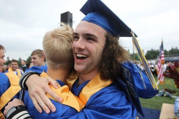 Bainbridge High School class of 2014 graduation; Jesse Beals | www.Olympicphotogroup.com