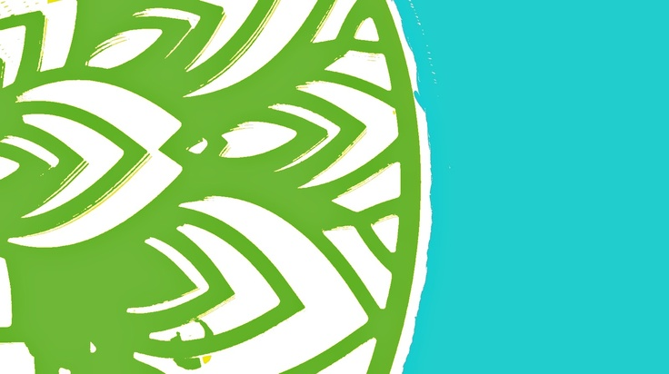 #illustration #green #blue  somethin like grass and sea or just ornament / by Taki Trik