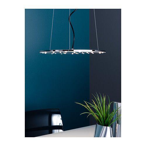 KLOR LED-pendellampe IKEA Har innebygde lysdioder (LED), som bruker cirka 85 prosent mindre energi og varer 20 ganger lenger enn glødepærer.