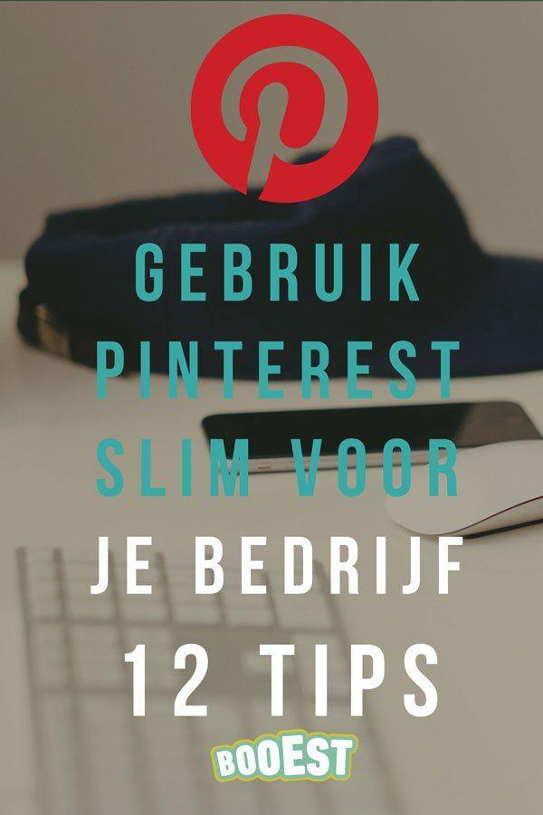 Pinterest slim gebruiken voor je bedrijf: 12 tips. Pinterest is inmiddels na Google, zoekmachine nummer 2. Vandaar dat je zakelijk Pinterest heel goed kunt inzetten. Hoe kun je Pinterest slim gebruiken voor je bedrijf? Booest geeft je 12 tips. www.booest.nl/gebruik-pinterest-slim-voor-je-bedrijf-12-tips