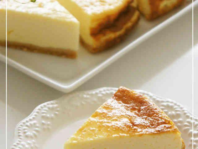 水切りヨーグルト濃厚ベイクドチーズケーキの画像