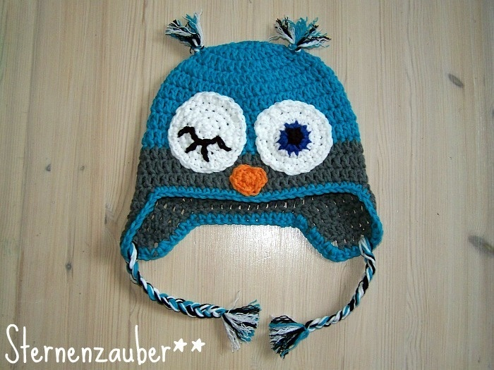 Crochet owl hat <3