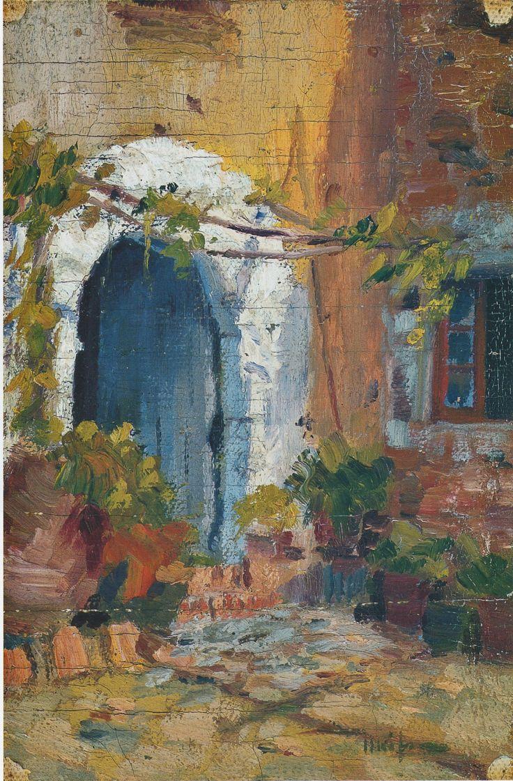 Eliseo Meifrn Roig Portal leo sobre lienzo