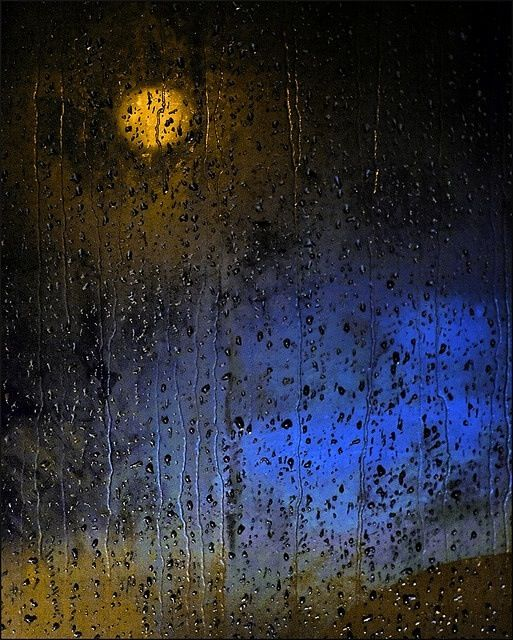 Moon on a rainy night..