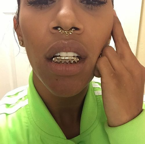 Never been a fan of grillz, but the septum jewelry is pretty.