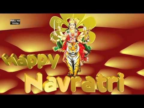 Happy Navratri Wishes, Greetings, Whatsapp Video 3D Animated Graphics