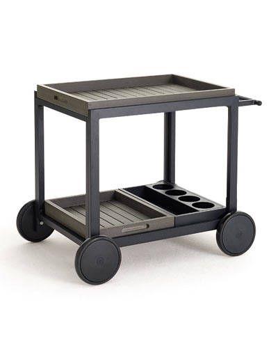 THE TOP 10 BAR CARTS: Alfresco Grey Cart by Crate and Barrel.