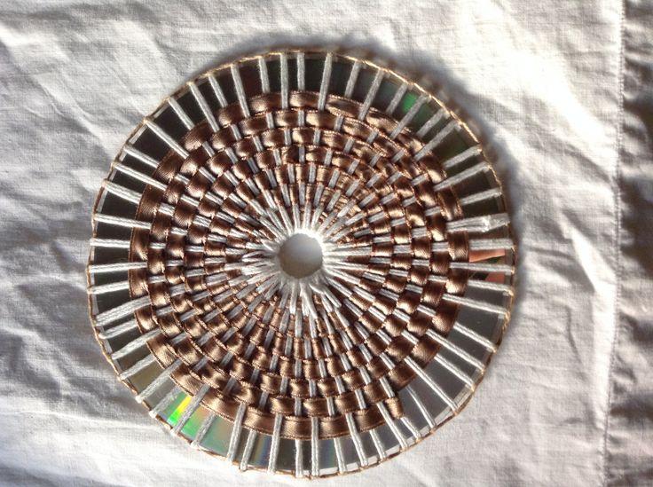 sottobicchieri realizzati con cd