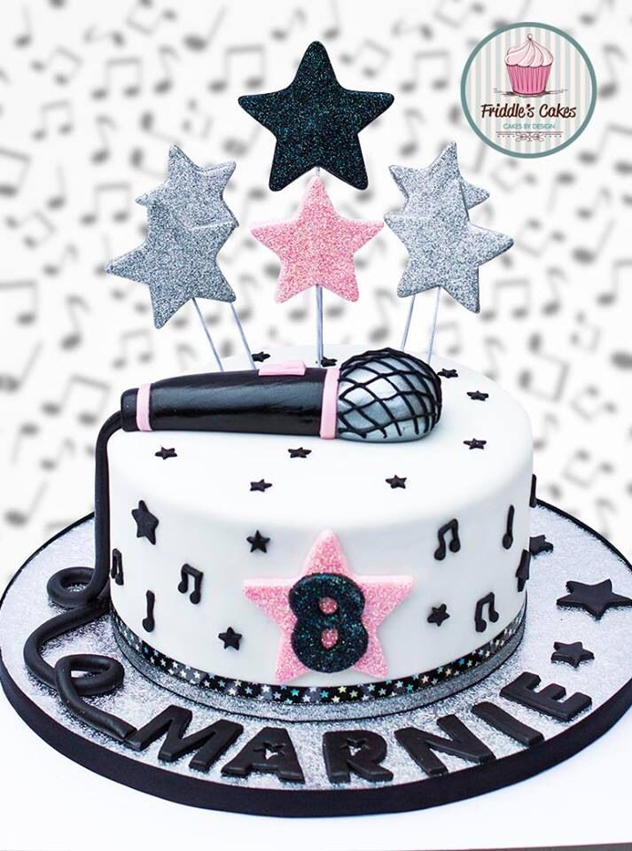 Friddle's cakes music microphone birthday cake