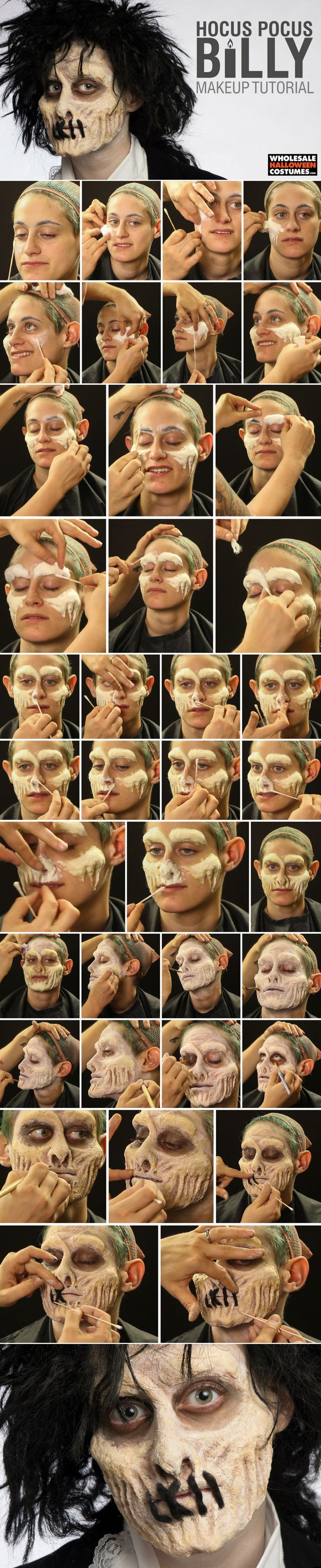 Become part of the Sanderson Sisters' squad with this Billy from Hocus Pocus makeup tutorial!