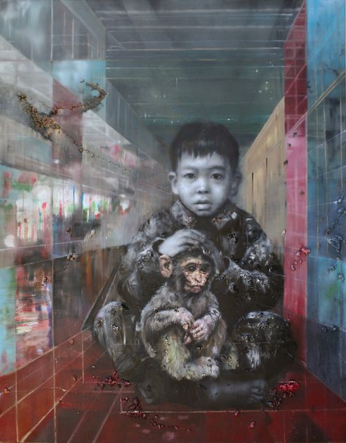 Li Tianbing, 'Me and the Monkey Baby,' 2014, Pearl Lam Galleries