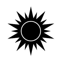 FREE SVG PDF PNG JPG EPS Sun Silhouette