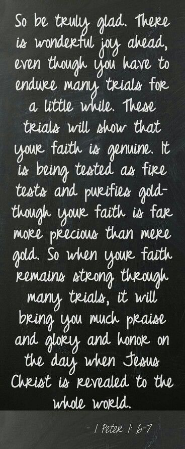 """YOUR FAITH JS MORE PRECIOUS THAN GOLD"""
