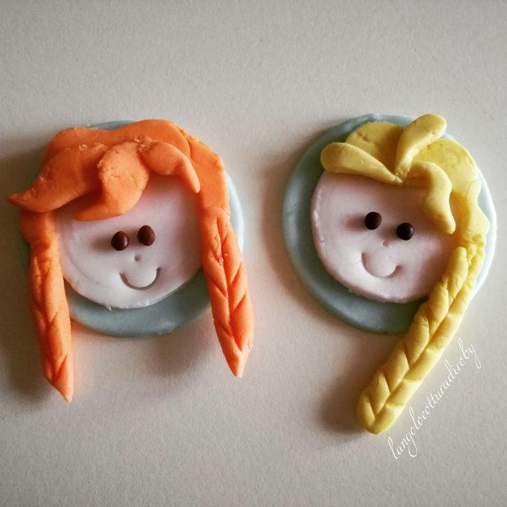 Anna & Elsa in pasta di zucchero