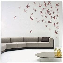 Swallows fly Stencils Modern stencils Wall by ModernWallClock, $13.88
