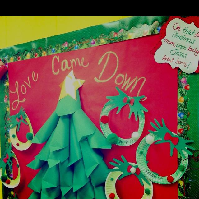 Diy Christmas Classroom Decorations : Diy bulletin board tree so simple take regular size