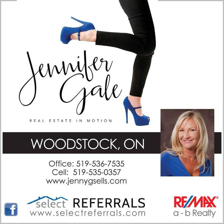 RE/MAX Select Referrals Team Member Jennifer Gale, is a top Real Estate agent in Woodstock, Ontario and the Oxford County area. Jennifer has over 10 years of experience to help your referred clients with their house buying, selling or renting process. Jennifer also has mortgage specialists that they can set your clients up with, and when they have found the perfect home or the perfect buyer, she will connect your clients with the right lawyer. Contact Jennifer direct at: 519-535 0357