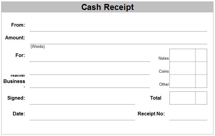 PDF Cash Receipt Template