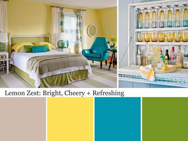 Ideas for using lemon zest in your design.: Colorswatch Paintcolor, Lemon Zest, Colors Bedrooms, Colors Palettes, Colors Schemes, Green Colors, Rooms Colors, Bright Colors, Colors Inspiration