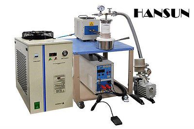 25KW Small Vacuum Induction Melting System upto 2000°C with Complete Accessories