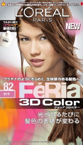 NIHON LOREAL Feria 3D Hair Color Shine and Moist Technology -82 Sakura (Japan Import) ** Be sure to check out this awesome product.