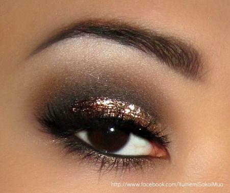 golden glam eye makeup