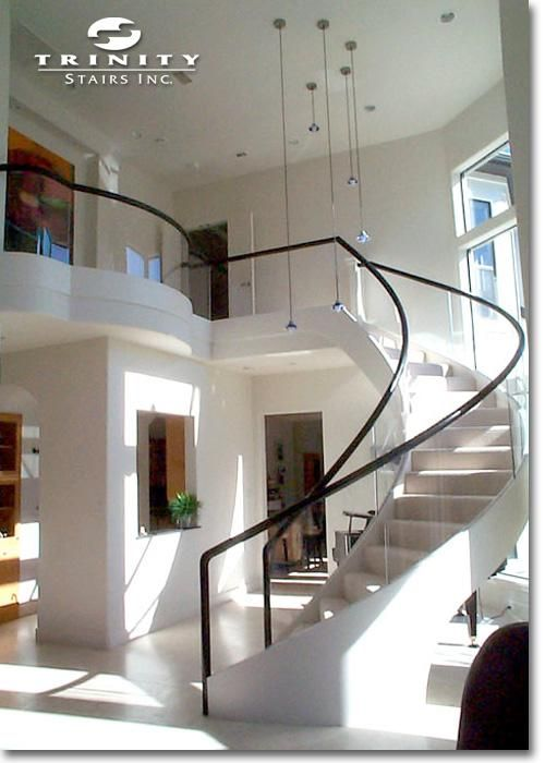 17 best ideas about glass stair railing on pinterest glass stairs modern stairs design and - Modern interior design with spiral stairs contemporary spiral staircase design ...
