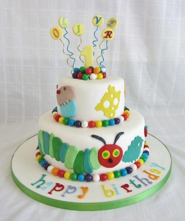 Hungry Caterpillar 1st Birthday Cake