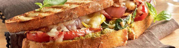 OPTIGRILL: Panini Italien épicé aux légumes grillés