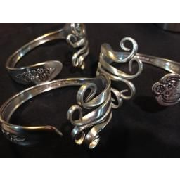 Funky Bracelet : Eco-friendly bracelets made from up-cycled vintage silver plate siverware