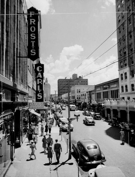 Downtown San Antonio, Texas, USA, August 1945******lol, I would have been 2 years old then!!!! Gosh, I miss my home town!