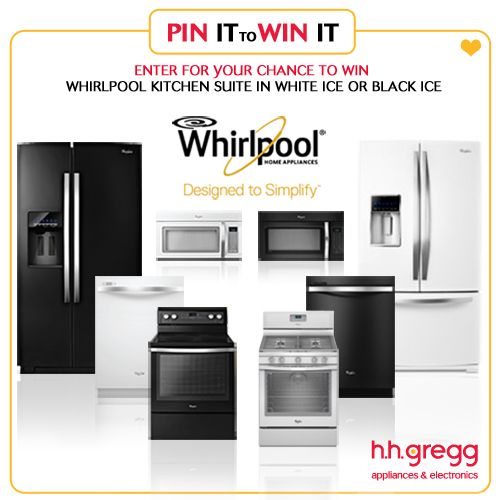 Win Black or White Whirlpool Ice Suite (over $3,500 value) & daily a h.h. gregg gift cards in our Whirlpool Pin It to Win It Sweeps! Click to enter, then repin!