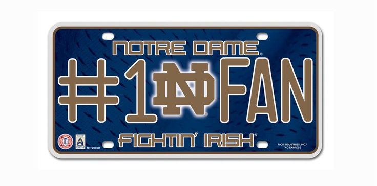 Notre Dame Fighting Irish License Plate - #1 Fan