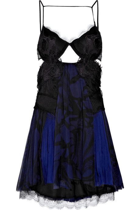 Julien-Macdonald-Lace-and-chiffon-mini-dress-2.jpg (460×690)