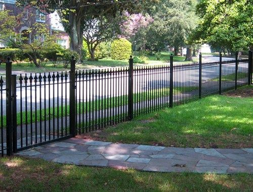 sooo badly want this for our front yard!!!! Wrought Iron Fencing    ~~Front yard fencing