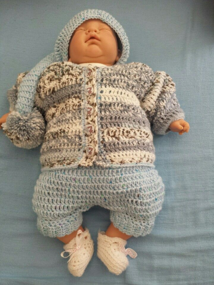 Baby romper cardigan and hat £25