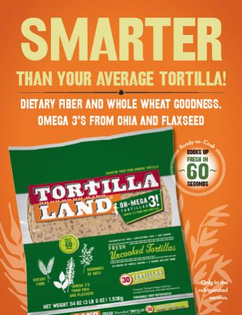 TortillaLand Oh-Mega3! Uncooked Tortillas Now Available at Select Costco Locations