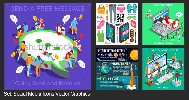 """Share your business with bright illustrations. New stylish """"clothes"""" to represent your company."""