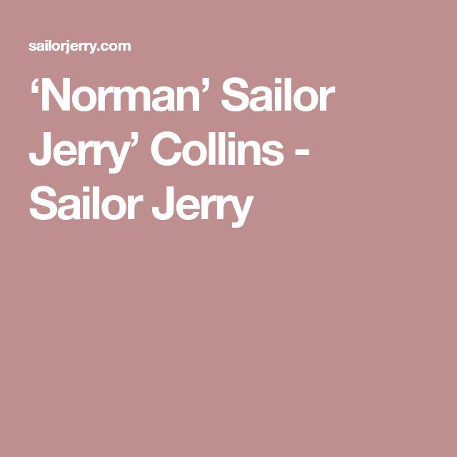 'Norman' Sailor Jerry' Collins - Sailor Jerry