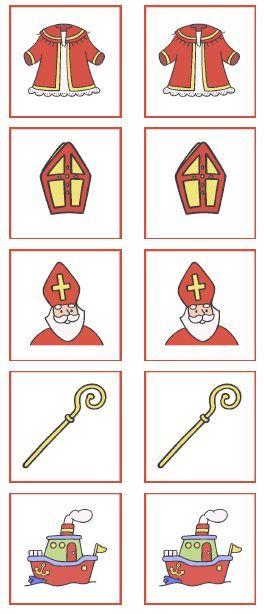 Sinterklaas memory! Voor de cognitieve ontwikkeling