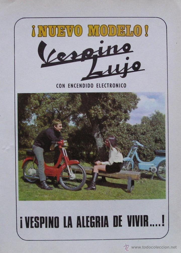 PUBLICIDAD ORIGINAL DE PRENSA DE: VESPINO .AÑOS 60