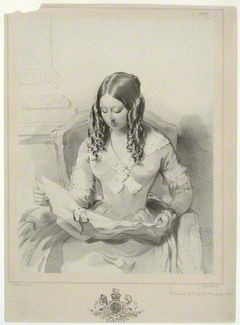 Queen Victoria by Mrs Edwin Dalton (Magdalena Ross), after Sir William Charles Ross lithograph, 1843
