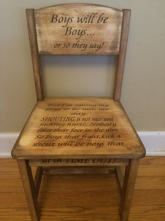Boys will be boys time out chair, rustic, distressed, antique. Keepsake