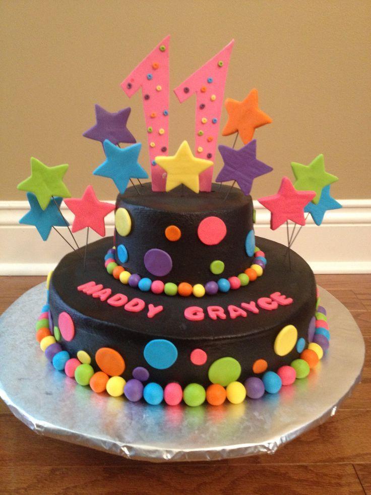 Neon Birthday Party Cakes