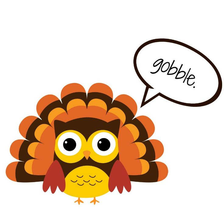 gobble the of thanksgiving turkey for kids to decorate clipart