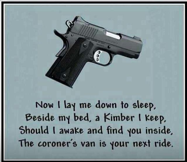 Now I lay me do... Kimber Firearms Catalog