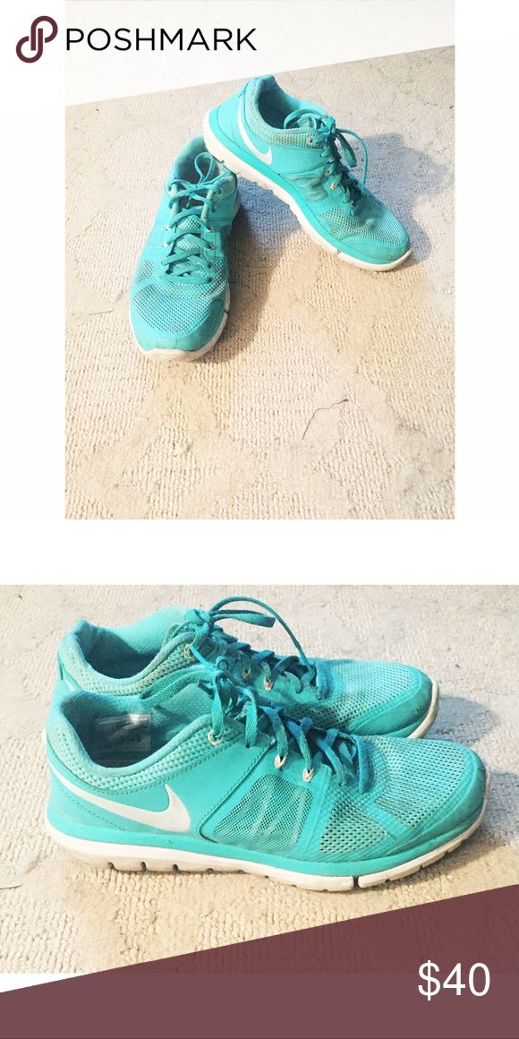 Tiffany blue Nikes 8 Tiffany Blue Nikes. Size 8. Worn, but great condition. Nike Shoes Sneakers