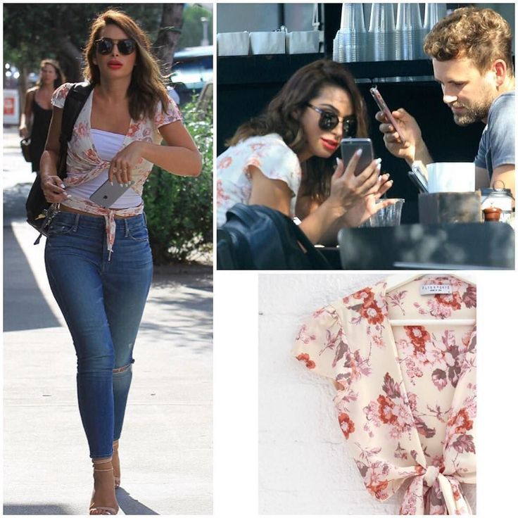 Ashley Iaconetti having lunch with Nick Viall today wearing Flynn Skye #ashleyiaconetti #nickviall  Shopping info at www.starstyle.com